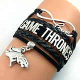 Fashion Game of Thrones Men Leather Bracelet