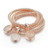 Free Bracelets Bangles Jewelry Gold Color Chain Bracelet Round Hollow Charm Bracelets For Women