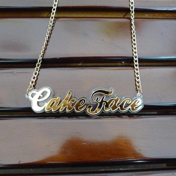 Laser Cut Acrylic Made Customize Statement Pendant Necklace