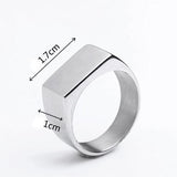 316L Stainless Steel Custom Engraved Name Ring