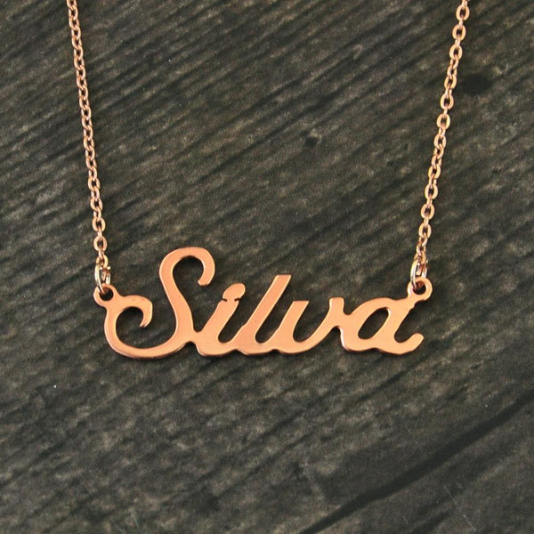 Make a Necklace with Your Name on it | Personalized Name Necklace Alison Font