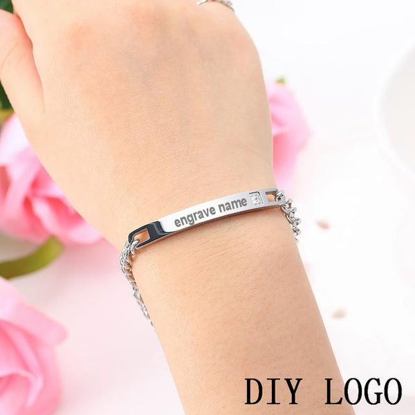 Personalized Name Stainless Steel Bracelets