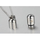 Stainless Steel Medicine Pill Shape Pendant Necklaces for Women/Men Blue/Silver/Gld Color