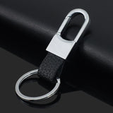 Custom Leather Men's Simple Key chains Holder Keyring Keychain Keyfob For Car Accessories