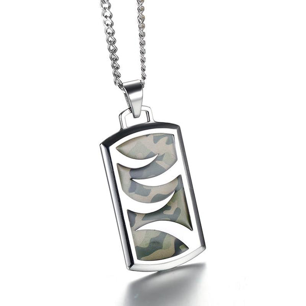 Camouflage Necklace Stainless Steel