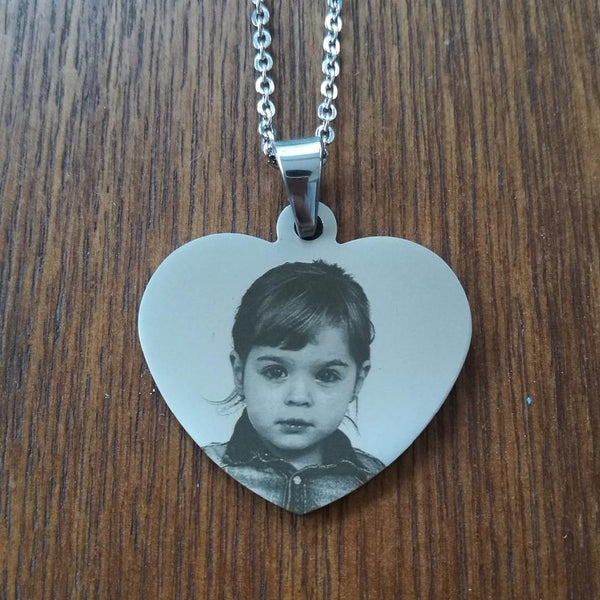 Stainless Steel Engraving Blank Necklace Personalized Name Photo