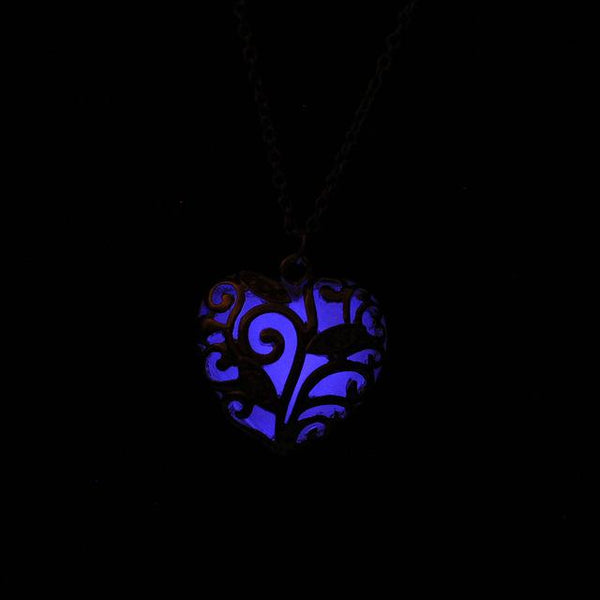 Fluorescence Necklace women love heart