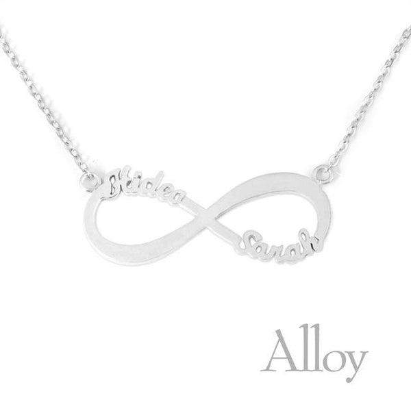 Custom 2 Names Infinity Necklace