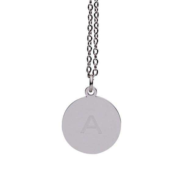 Personalized Engrave Custom Name Necklace 3 Color Circle Necklaces Pendants