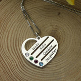 Necklace Silver Birthstone Jewelry