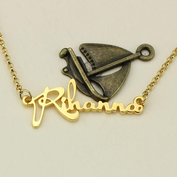 Personalized Celebrity Name Necklace Gold Color Fashion Name Necklace  Girl's Jewelry