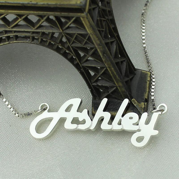 Personalized Sterling Silver  Name Necklace Letter Necklace Retro Stylish Name Jewelry for Woman