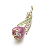 Elegant Tulip Flower Brooch Pin Jewelry Clothes Accessories
