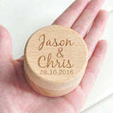 Personalized Rustic Wedding Wood Ring Box