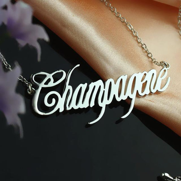 Personalized Name Necklace 925 Sterling Silver Initials Customized Name