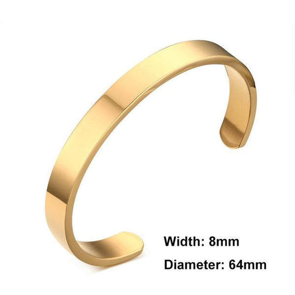 Bracelet Customized Jewelry Engraving Stainless Steel Jewelry Cuff Open Bangle Bracelet
