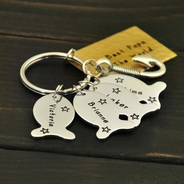 Fishing Buddy Personalized Keychain
