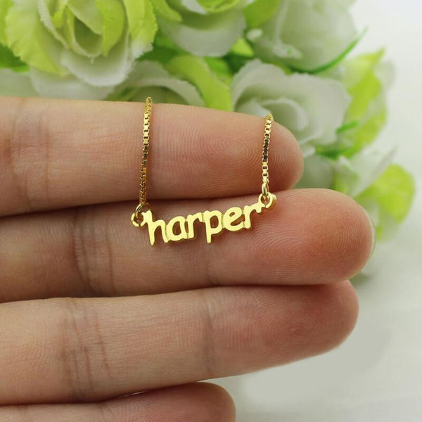 Gold Color Silver Customized Dainty Mimi Name Necklace Small Tiny Nameplate Necklace Bridesmaids