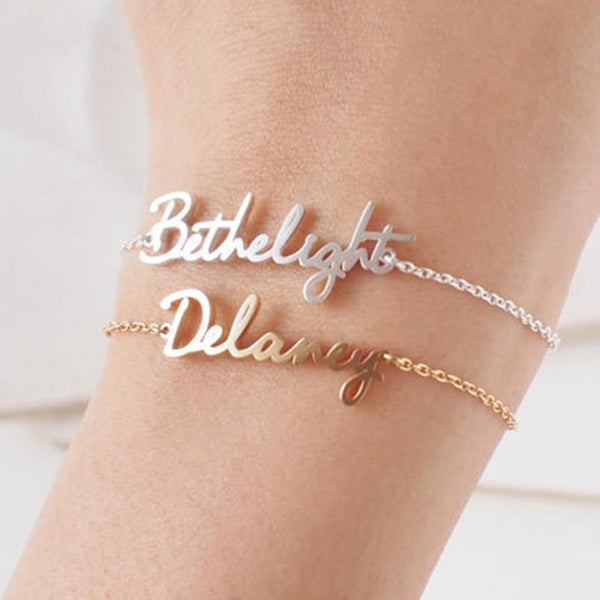 Custom Name Bracelets & Bangles For Women Gift Personalized Jewelry
