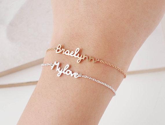 Custom Jewelry Personalized Name Bracelet For Women