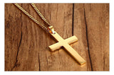 Customized Engraving Couples Necklace Cross Pendant Necklace for Women Men Engagement Jewelry