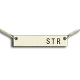 Engraved Name Necklace Silver Personalized Bar Necklace Monogram Bar necklace Initials Jewelry