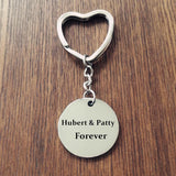 Personalized Round Keychain Engrave Photo Key chain Stainless Steel