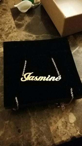 Handmade Custom Jewelry Any Personalized Name Necklaces Women Men Silver Gold Rose