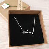 Rose Gold Silver Color Personalized Custom Name Pendant Necklace