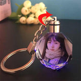 Custom KeyChains Put Your Photo Or Your Family Photo Crystal Shine Keychain