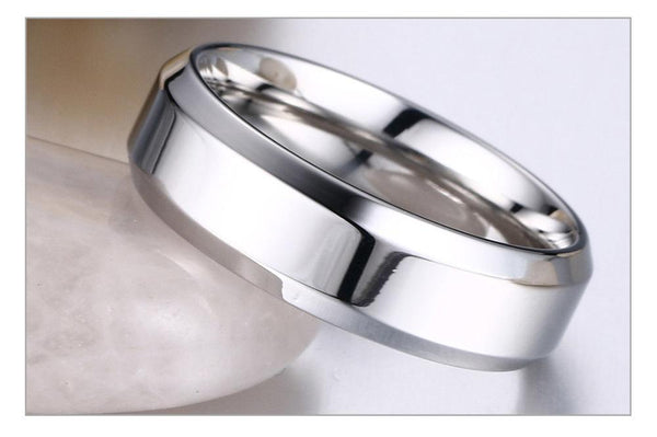 His Queen Her King Rings for Women Men Stainless Steel Anniversary Band Valentine's Day Gift