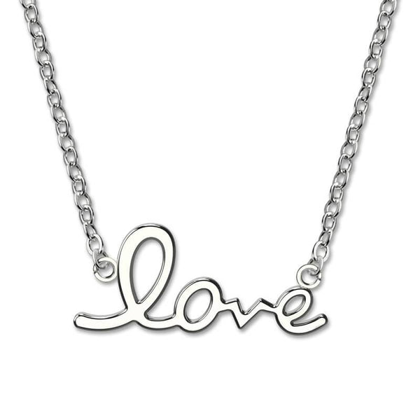 Love Necklace Sterling Silver Necklace For Girlfriend Love Pendant Anniversary Gift Cheap Jewellery