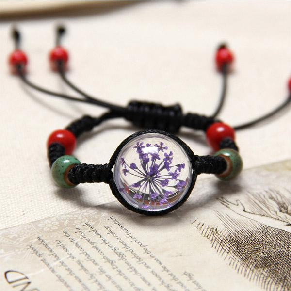 Free Bracelets - 10 Color Natural Dried Flower Bracelet For Women's Jewelry