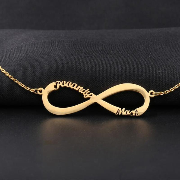 Custom Infinity Name Necklace Handmade Jewelry Personalized Pendant Choker Rose Gold Silver