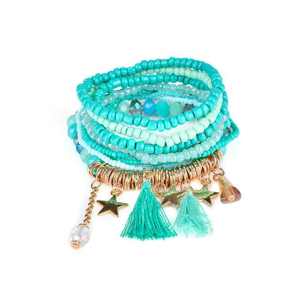 Free Bracelets - FUNIQUE Bohemian Style Star Charm Beads Bracelets For Women