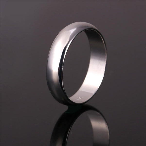 Ring Simple Style Black/Silver/Gold Color 5MM