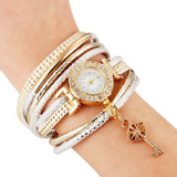 Free Bracelets - Fashion Lock Crystal Watch Bracelet Multilayer Bracelet