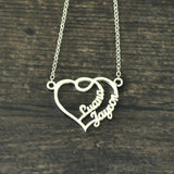 Personalized Heart Name Necklace Couples Name Necklace Name Heart Necklace Gift for Her