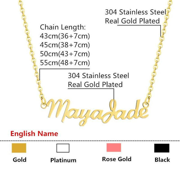 Handmade Custom Name Necklace Personalized Women Star Charm Choker