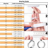 Hot Stone Jewelry Stainless Steel Double Rows Crystal Finger Mid Rings