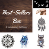 Best-Sellers Box - 5 temporary tattoos + an extra gift