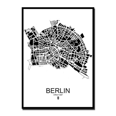 Minimalist European Cities Map