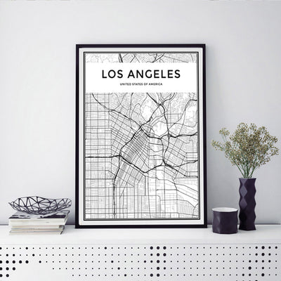 Minimalist LOS ANGELES City Map