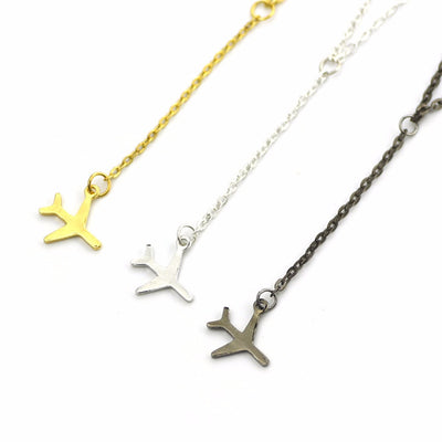 Airplane Pendant Necklace