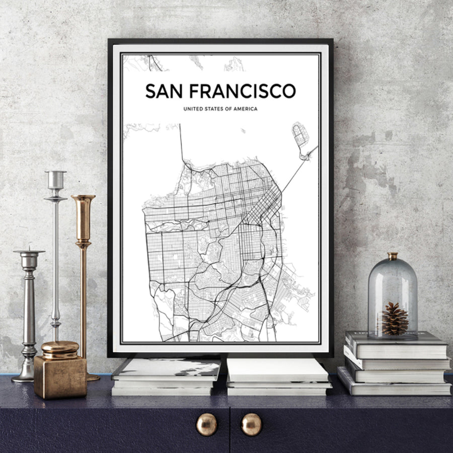 Minimalist San Francisco City Map