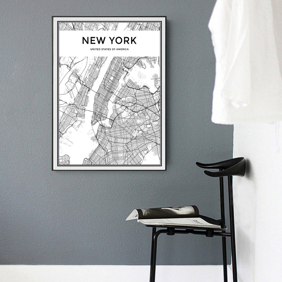 Minimalist New York City Map
