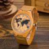 WOODEN WORLD MAP WATCH
