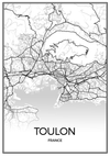 Minimalist French Cities Map