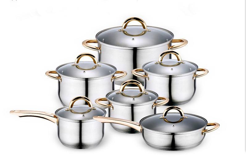 12PC Of 18/10 Stainless Steel Cookware Set.