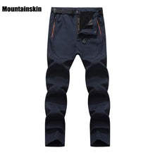 Men's Winter Softshell Inner Fleece Outdoor Pants - Paruse
